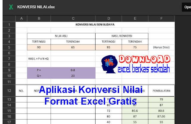 Download Aplikasi Konversi Nilai Format Excel Gratis
