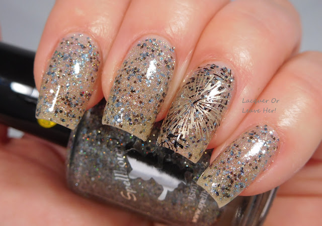 Spellbound Nails Silver Bells + Bunny Nails HD-E + Messy Mansion stamping polishes