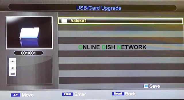 echqlink 777 HD Receiver USB select