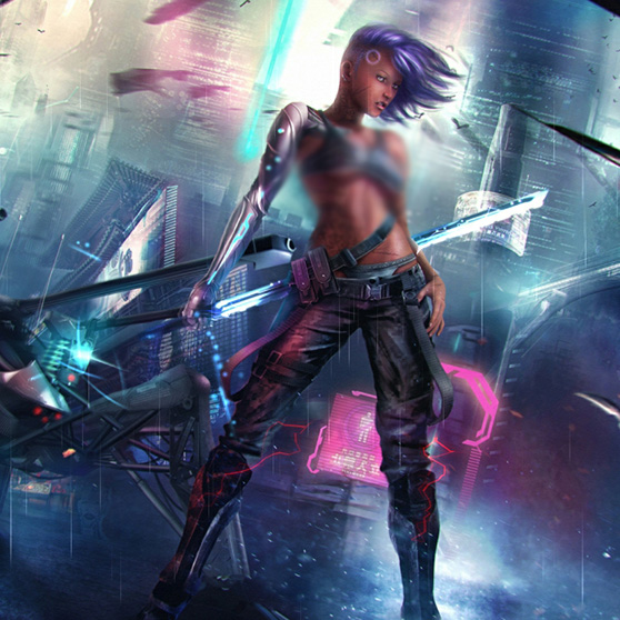 Cyberpunk Girl Wallpaper Engine