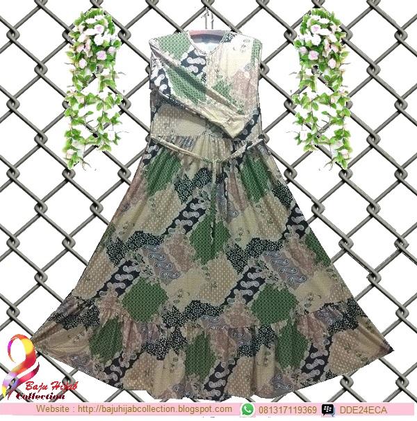 Gamis Misbee Jumbo Batik Green