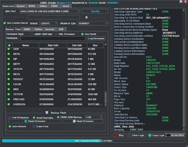 EMMC Dongle V1.0.7 setup download