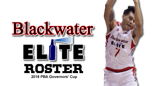 LIST: Blackwater Elite Roster 2018 PBA Governor's Cup
