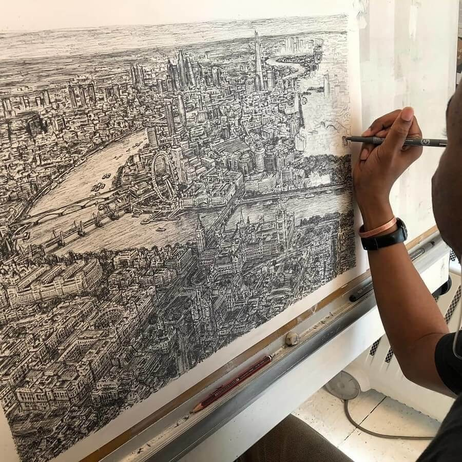 02-London-commission-Stephen-Wiltshire-Urban-Cityscapes-www-designstack-co