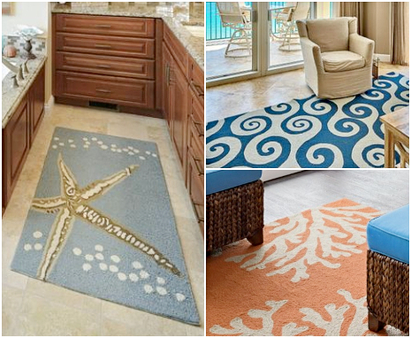 Coastal Ocean Theme Area Rug Decor Ideas Shop the Look