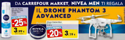 Logo Con NiveaMen vinci il Drone Phantom 3 Advanced