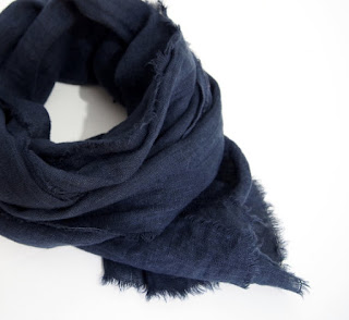 navy cotton scarf for second anniversary gift