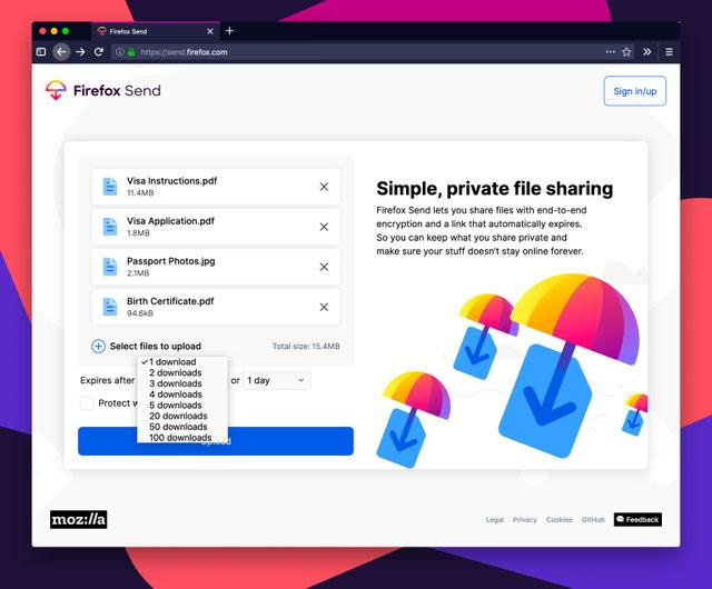 Firefox Send nasıl kullanılır?