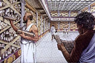 Ricerca sulla biblioteca di Alessandria d'Egitto per la scuola