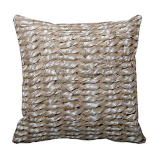 Sisal print throw pillow