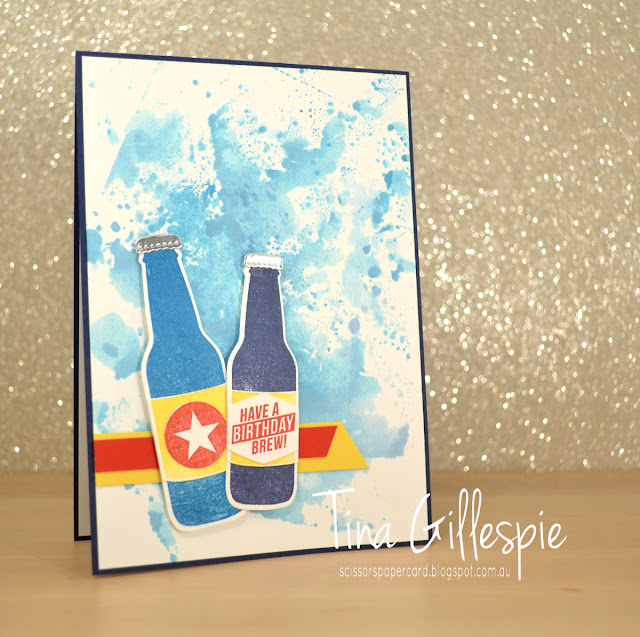 scissorspapercard, Stampin' Up!, Bubble Over, Bottles & Bubbles Framelits, Smooshing