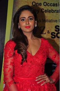Actress Model Parul Yadav Stills in Red Long Dress at South Scope Lifestyle Awards 2016 Red Carpet  0051.JPG