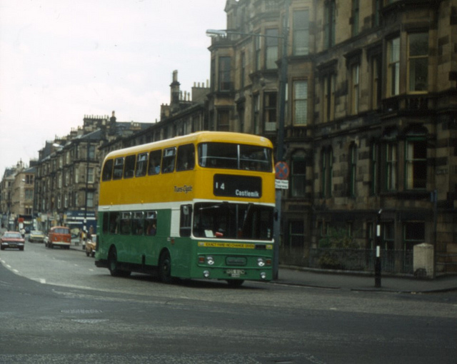 Double Decker Buses In Glasgow Ca 1970 S 80 S