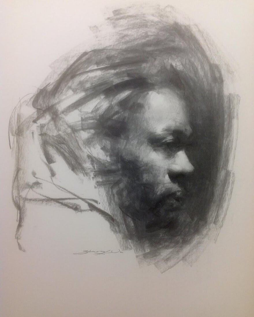 10-Life-Drawing-Zhaoming-Wu-Black-and-White-Charcoal-Portraits-www-designstack-co