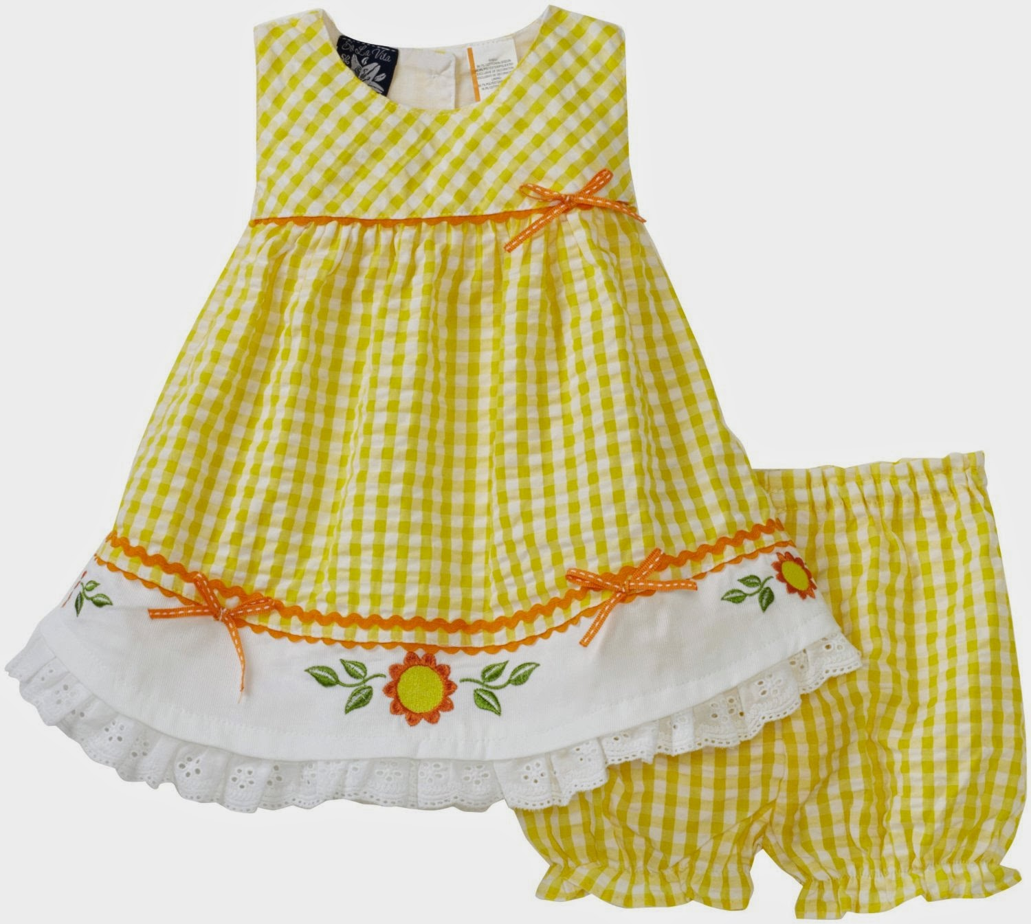 Fashion Arrivals: Latest Stylish Cotton Frocks for Babies 2014