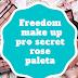 Freedom makeup pro secret rose palette| Makijaż, swatche i pierwsze wrażenia