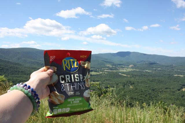 Ritz Crisp Thins on a hike