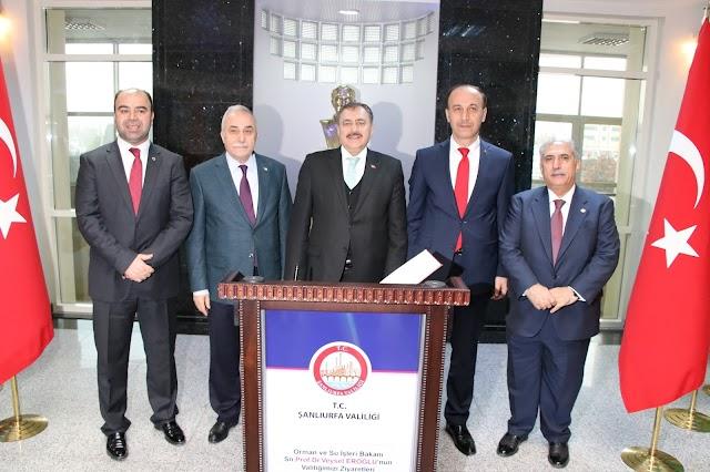 Bakan Eroğlu, Şanlıurfa'ya müjdelerle geldik