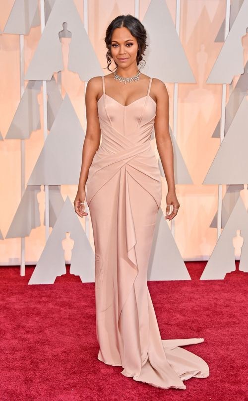 Zoe Saldana Atelier Versace at the Academy Awards 2015