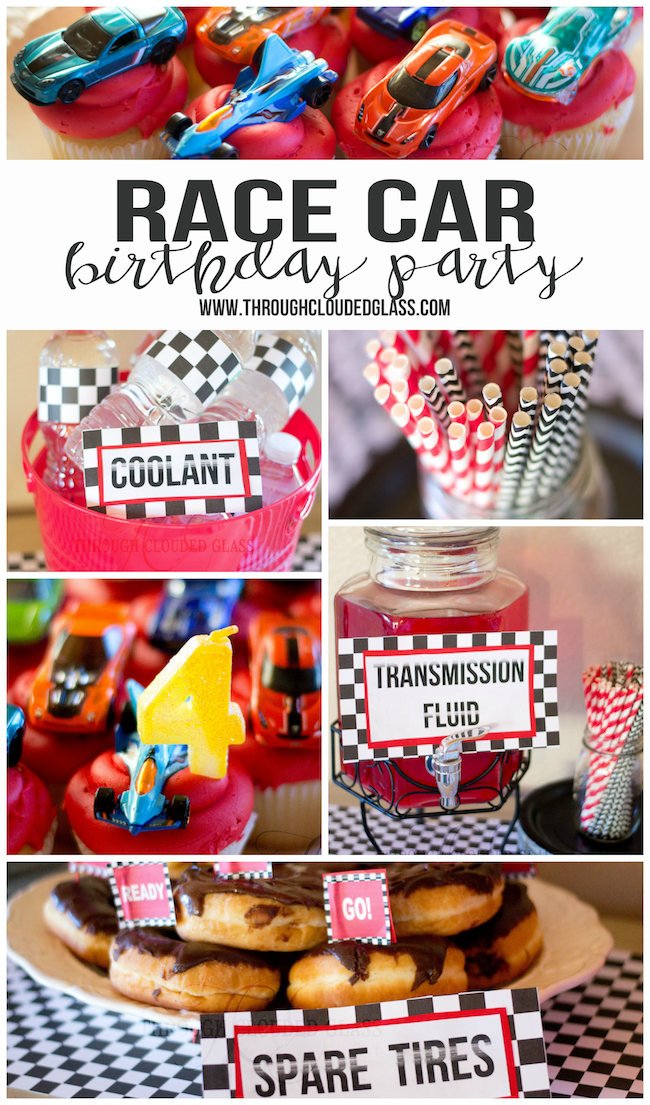 Race Car Birthday Party Ideas | Through Clouded Glass