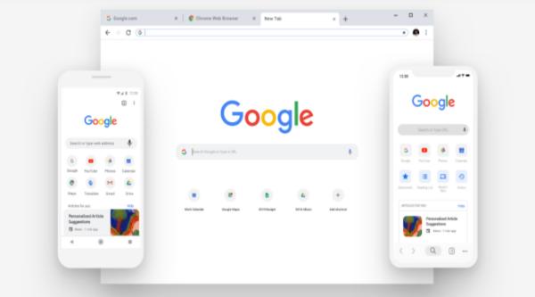 جوجل تطلق النسخة الجديدة من متصفحها جوجل كروم بتصميم مميز