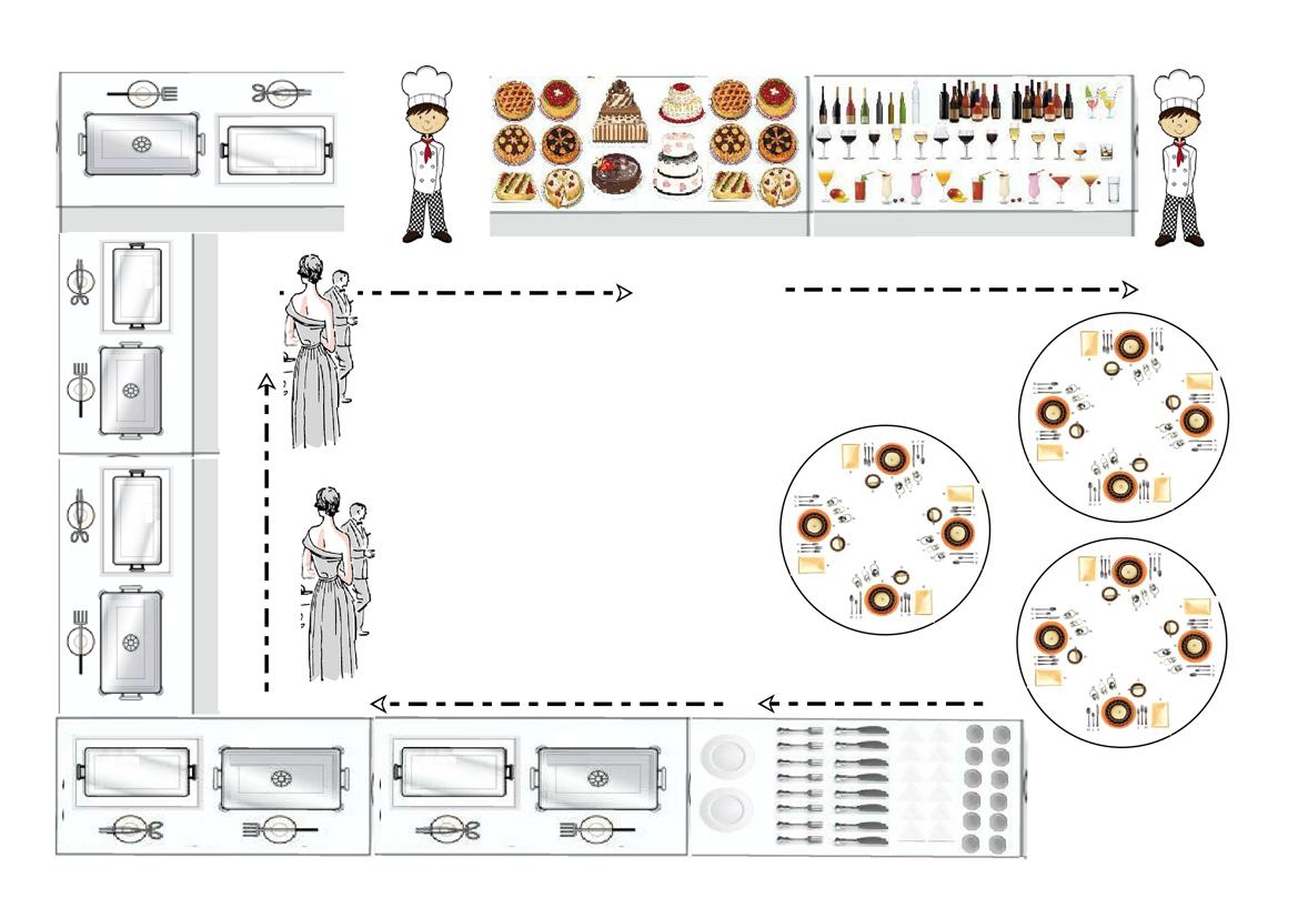 Super Matrimonioe un tocco di classe: Idee Per un Menu Tipo Buffet HH01