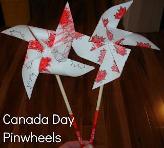 Canada Day Pinwheels