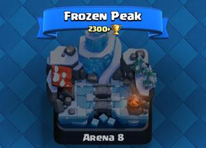 Rincian dan informasi lengkap tentang Frozen Peak arena di Clash Royale