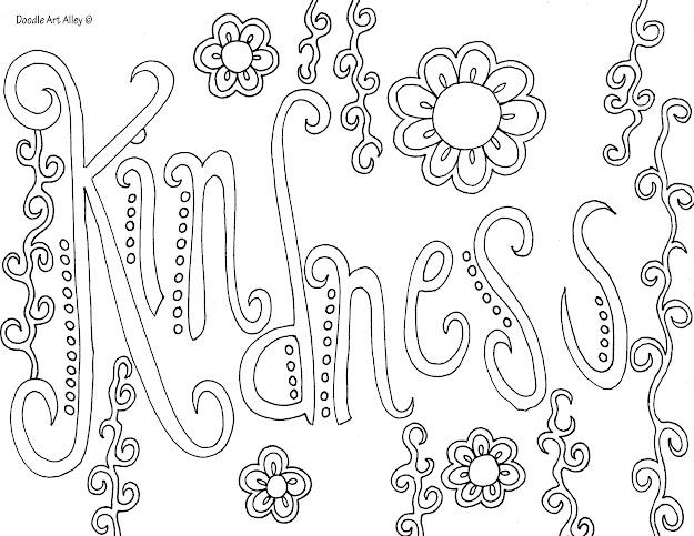 Kindness Httpdoodleartalley  Coloring Sheetsadult
