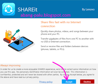 cara menginstal shareit di pc