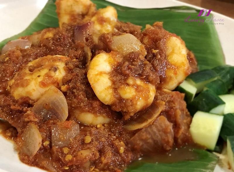 tourism perak restoran yum yum assam samabal prawns