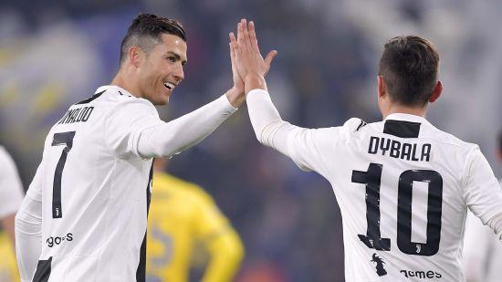 Juventus Cristiano Ronaldo and Paulo Dybala Celebration