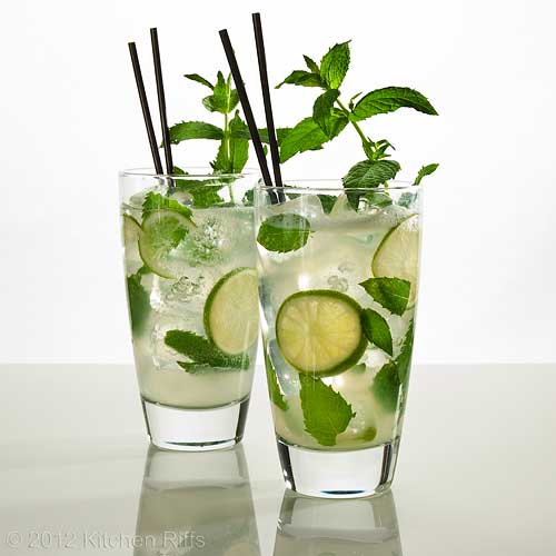 Mojito Cocktail with mint garnish