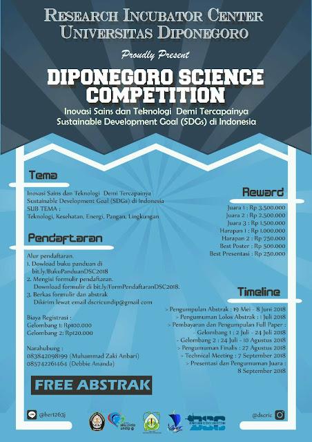 Diponegoro Science Competition 2018 Untuk Mahasiswa