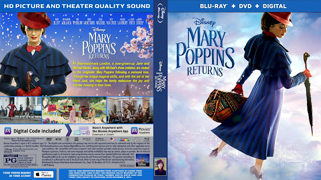 Mary Poppins Returns Bluray Cover