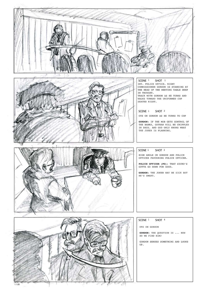 the Dark Knight storyboards Pinterest Storyboard - comic storyboards