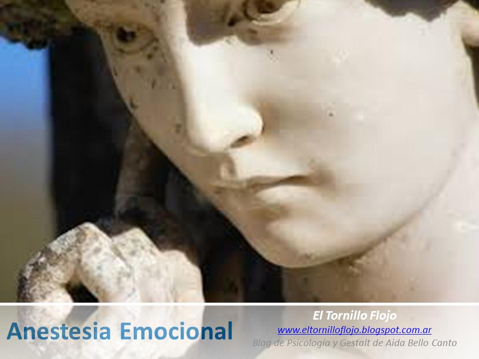 Anestesia Emocional, Emociones, Vinculos, Desensibilizacion, Maltrato, Gestalt, Aida Bello Canto, Psicologia