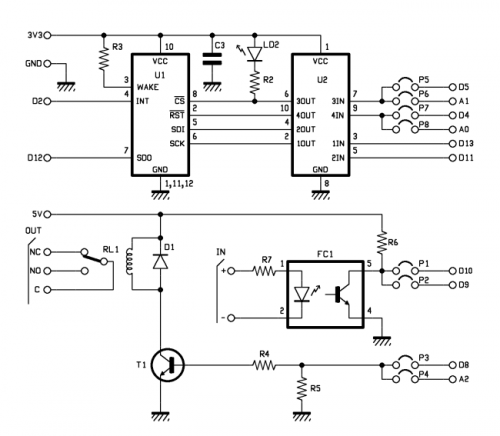 electronic project  arduino mrf24j40 wireless shield