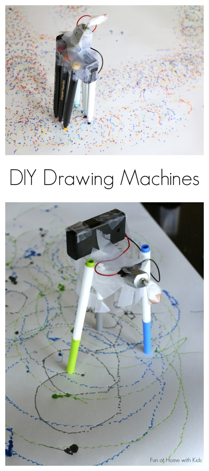 Learn how to make DIY Drawing Machines from Tinkerlab: A Hands-on Guide for Little Inventors