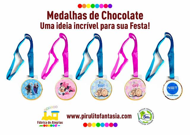 Medalhas de Chocolate. Clique Aqui!