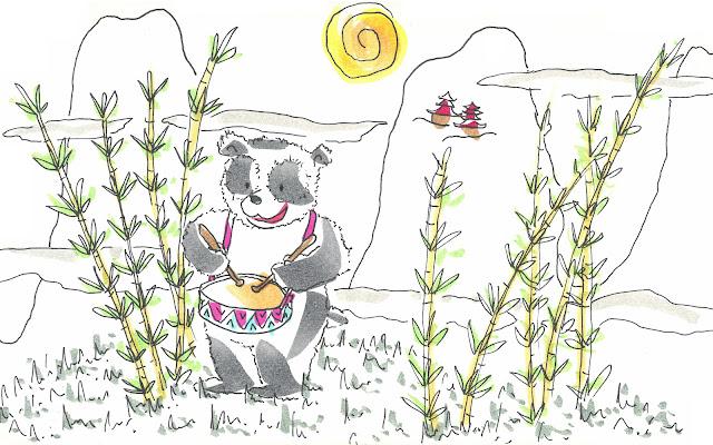 Cuento sobre un oso panda que quería ser músico