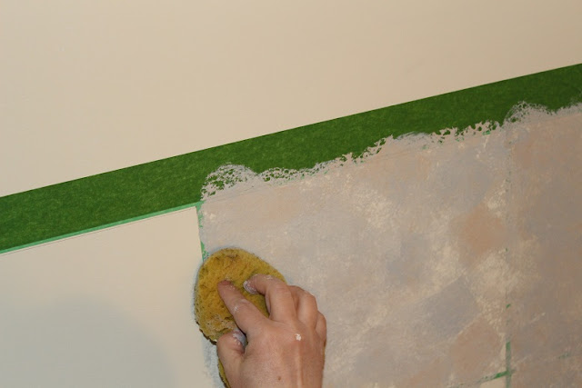 Faux Painting Ceramic Tile Walls