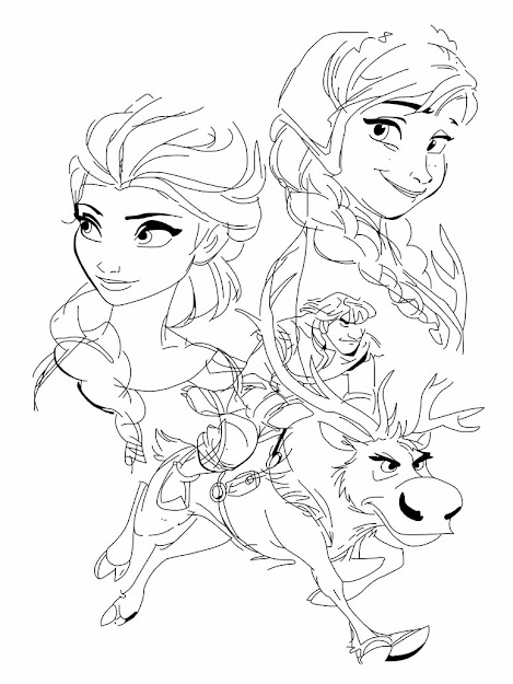 Frozen Coloring Online With Frozen Coloring Pages Olaf And Sven Online Baby