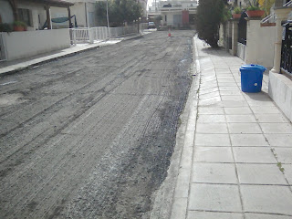 Larnaka street awaiting re-surfacing