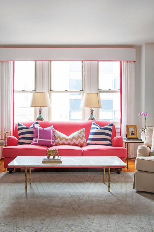 Pink Couches Interior Designs
