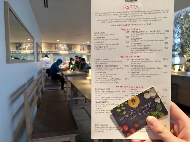 EatPastaRunFasta Vapiano Review Manchester