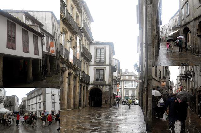 por las calles del centro de Santiago de Compostela
