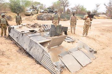 Pics: Nigerian Army recovers Armoured Personnel Carrier captured by Boko Haram
