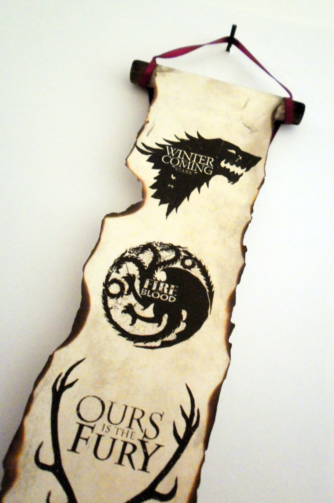 Land of Scrolls: Game of Thrones Scroll Handmade Four Coat