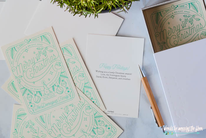 Aqua Christmas Card